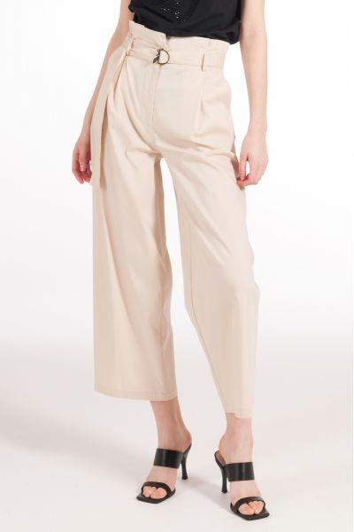 Pantalone in Popeline di Patrizia Pepe Sand