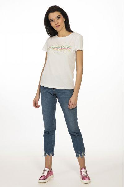 T-shirt Logata Patrizia Pepe Color Bianco