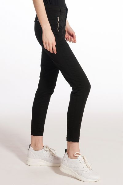 Pantalone Skinny con Zip di Liu Jo Nero