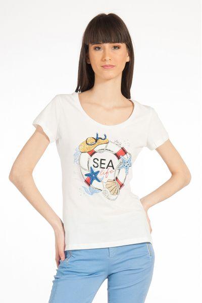 T-shirt con Stampa di Liu Jo