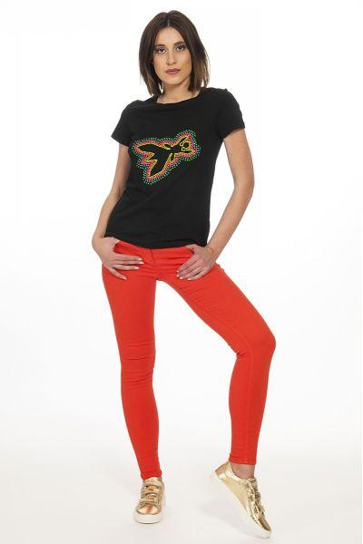 Tshirt Logata Fly di Patrizia Pepe Color Nero