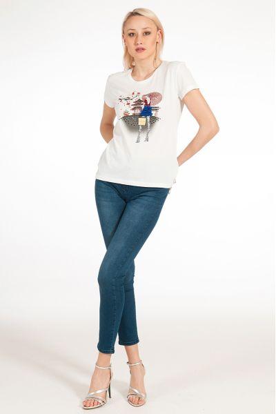"""T-Shirt Stampata """"Tokio"""" di Patrizia Pepe"""