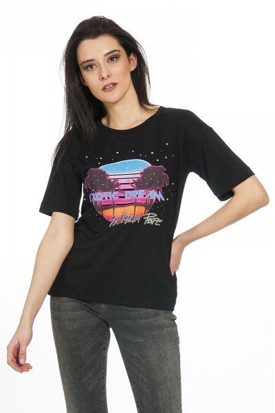 T-shirt con Stampa di Patrizia Pepe Nero