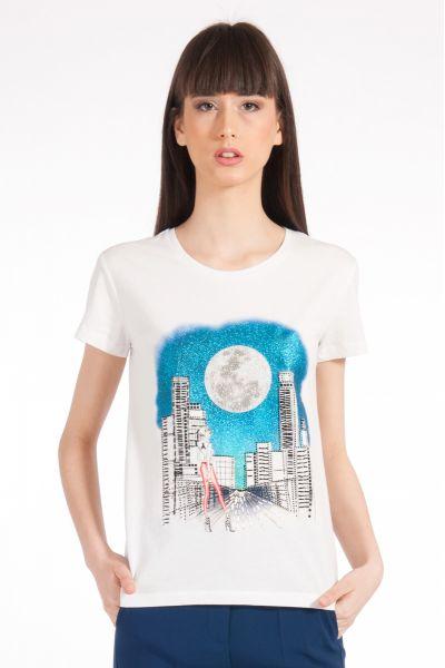 T-shirt con Stampa Travel di Patrizia Pepe