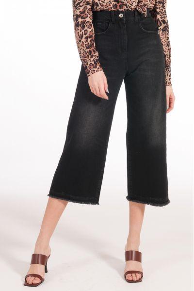 Pantalone Cropped Denim di Patrizia Pepe Black