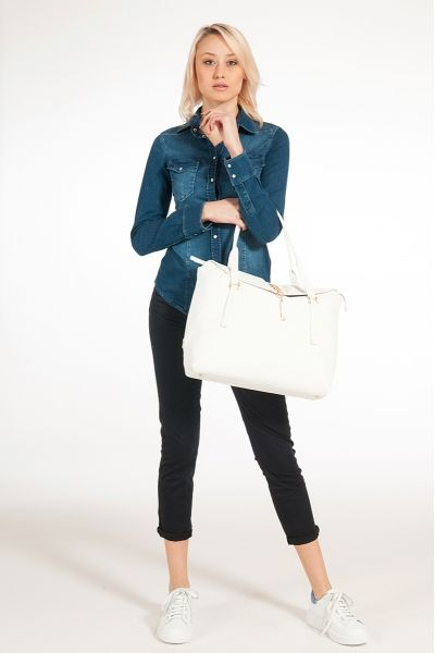 Camicia di Jeans in Denim Stretch di Liu Jo