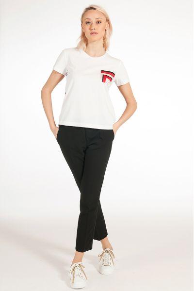 T-shirt con Inserti Stampati di Liu Jo
