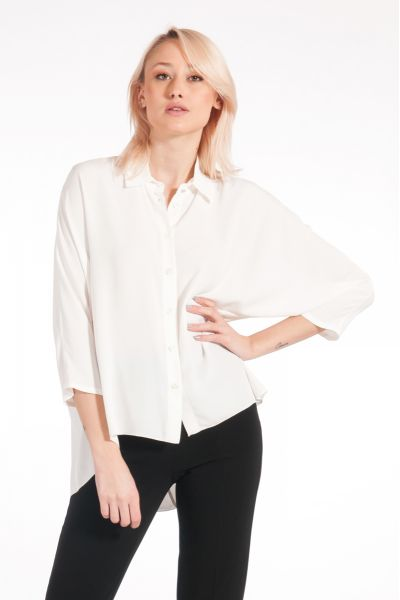 Camicia in Crepe Viscosa di Patrizia Pepe Bianco