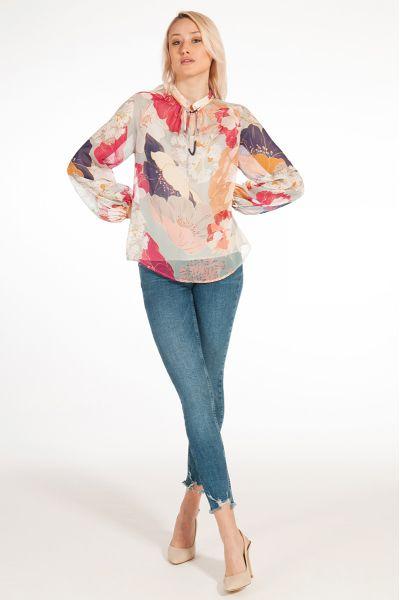 Blusa con Stampa di Liu Jo Colore Fresia Flower