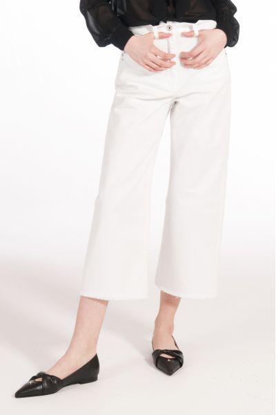 Pantalone Cropped Denim di Patrizia Pepe Bianco