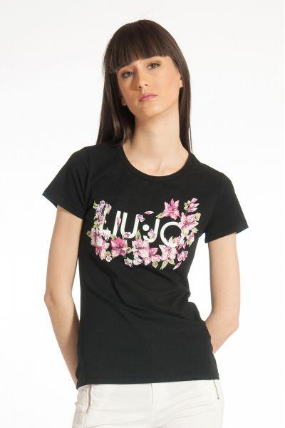 T-shirt con Stampa di Liu Jo Nero