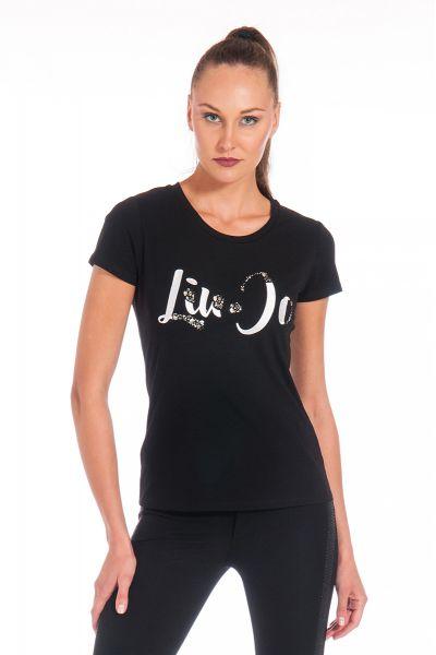 T-shirt con Applicazioni Gioiello di Liu Jo Nero