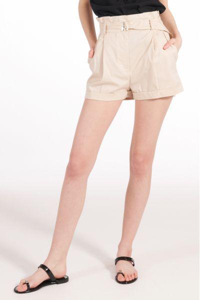 Shorts in Popeline di Patrizia Pepe Color Beige
