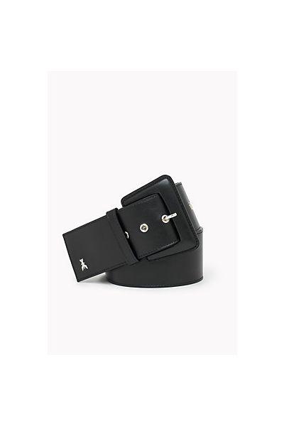 Cintura in Pelle a Vita Alta 6 cm