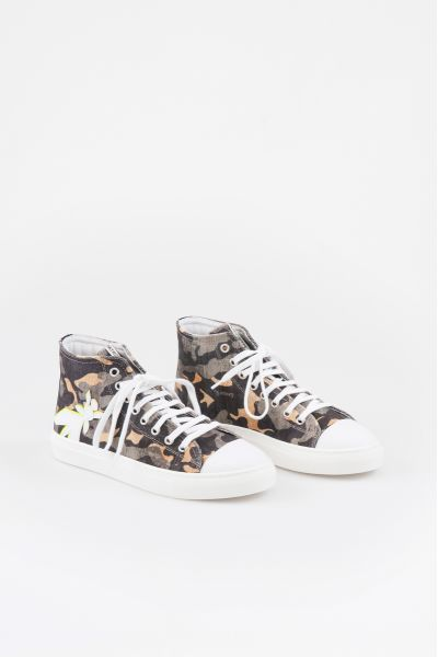Sneaker Alta in Tela di Cotone di Patriia Pepe
