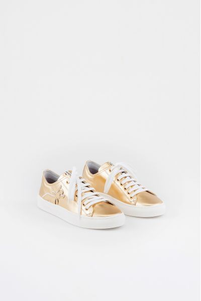 Sneakers in Pelle di Patrizia Pepe Color Gold/Star