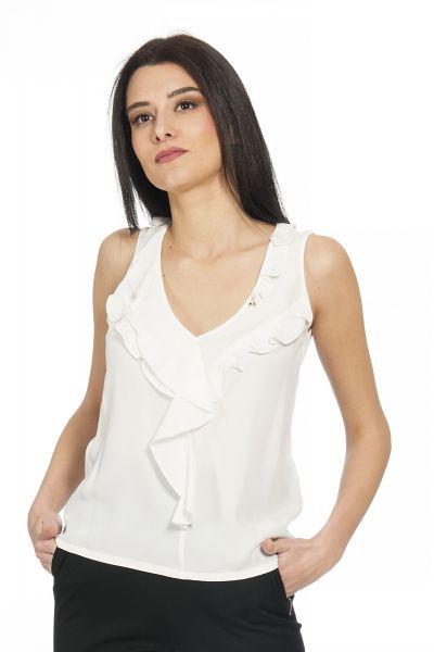 Camicia Asimetrica di Patrizia Pepe Bianco