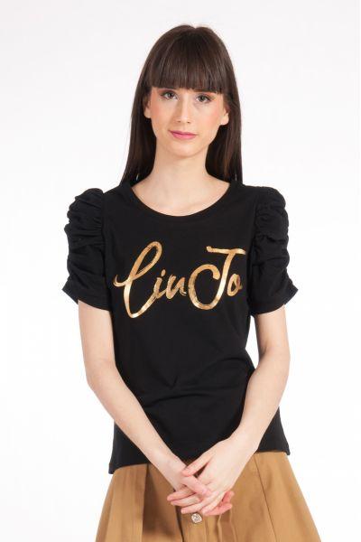 T-shirt con Maniche a Sbuffo di Liu Jo