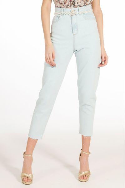Jeans Vita Alta con Cintura di Liu Jo