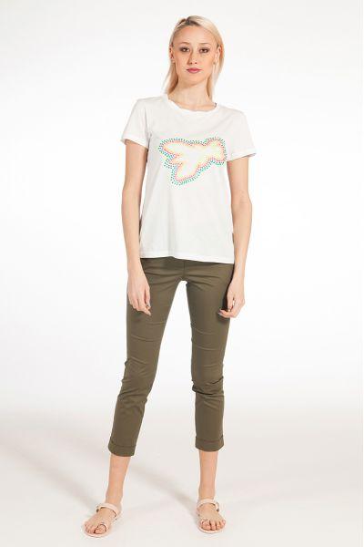 Tshirt Logata Fly di Patrizia Pepe Color Bianco