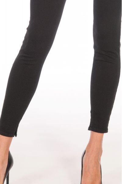 Pantalone Skinny in Gabardina di Nenette Nero