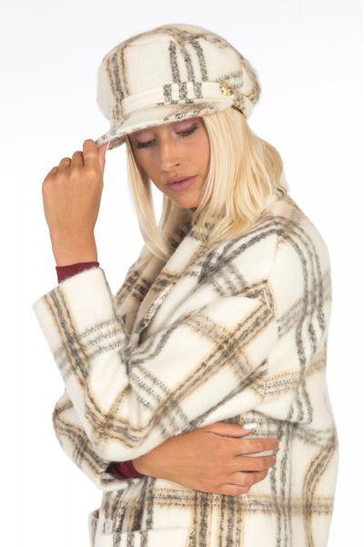 Cappello Basco Wooly Check di Patrizia Pepe