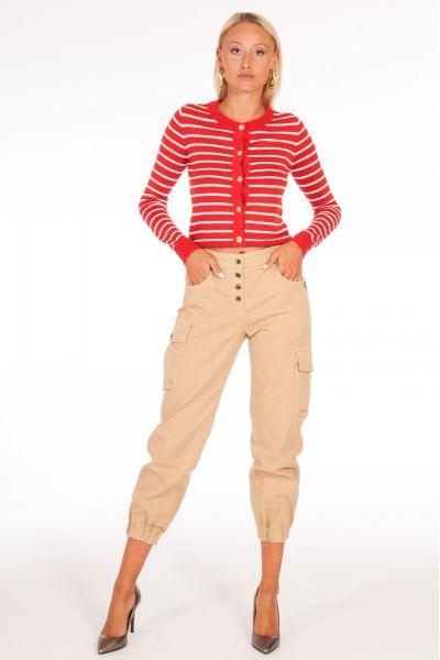 Pantalone Cargo di Patrizia Pepe Colore Mastice