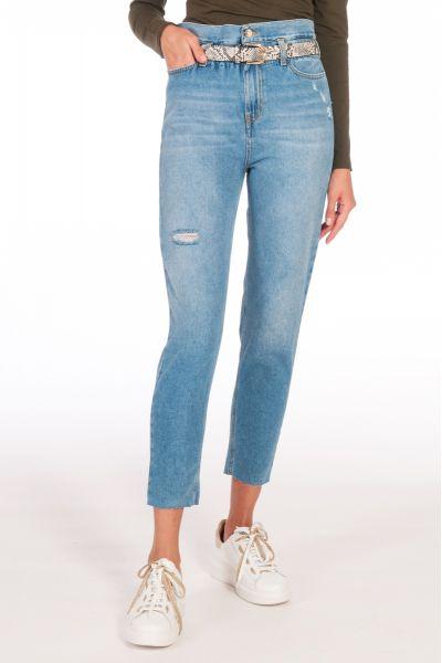 Jeans Boyfriend a Vita Alta di Liu Jo Den.Blue