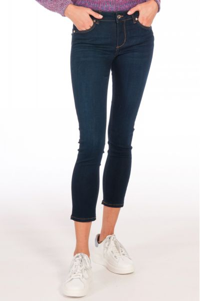 Jeans Skinny Bottom Up di Liu Jo Color BlackMoon