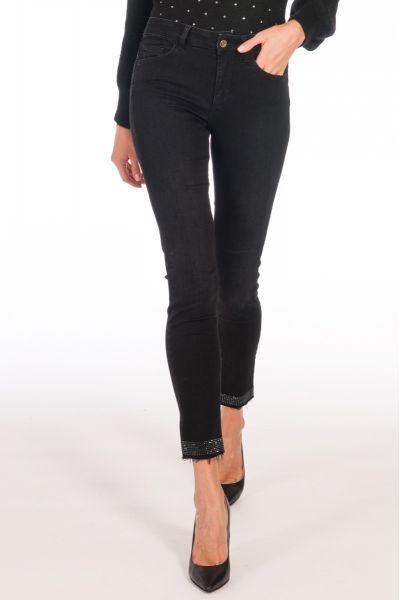 Jeans Skinny Vita Alta di Liu Jo Denim Nero