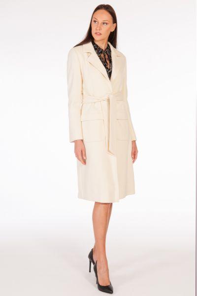 Cappotto con Cintura di Liu Jo Bianco Lana